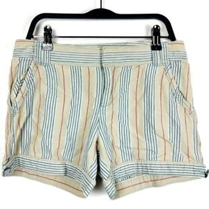 Daughters of the Liberation Linen Striped Shorts